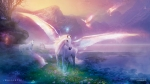 winter-dawn-abstract-birds-colours-doves-fantasy-flowers-glow-grass-horses-lake-magical-mountains-pegasus-snow-tree-unicorn-wings