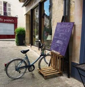 pallete bike stand
